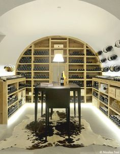 wine cellar with curved roof