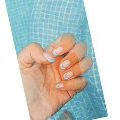 Blue nailsart