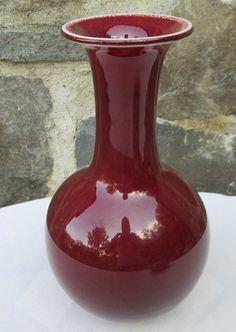 Chinese Ox Blood Sang de Boeuf Vase