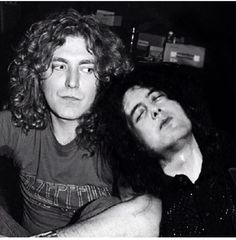 Robert Plant and a sleepy Jimmy Page!! ❤ :)