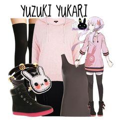 """""""Yuzuki Yukari (結月ゆかり)"""" by blackrabbitmegapig ❤ liked on Polyvore featuring WearAll, River Island, NIC+ZOE, Tory Burch, Timberland, CasualCosplay, vocaloid, otaku and YuzukiYukari"""