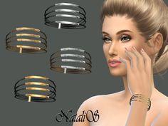 NataliS_Layered rope and metal tubes bracelet