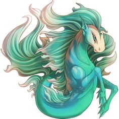 The name comes from the Greek hippos (horse) and kampos (sea monster). The first water horse, or hippocampus, was a fabled sea animal from Greek mythology it is half-horse and half-fish, with the head and forequarters of a horse and the tail and hindquarters of a fish or dolphin. It had forelegs with webbed paws, and may have a fin on the back of its neck. Later depictions of the Hippocampus gave it a dorsal fin instead of a mane, fins instead of hooves, and, on rare occasions, wings.