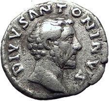 ANTONINUS PIUS 161AD Rome Genuine Authentic Ancient Silver Roman Coin i65394