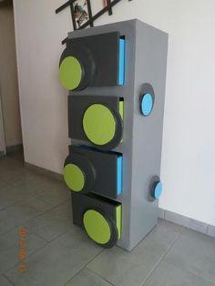 Création d'une commode en carton bybouli (meuble pour enfant en carton)