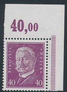 German Stamp GE VERY FINE EXTREMELY Og NH MI 220 Euros Latest Catalog Value 30000 Stock 359842