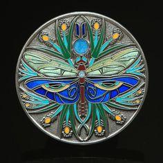 Antique Silver Egyptian Dragonfly Geocoin - Geocaching | eBay