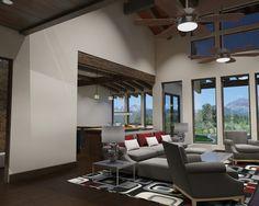 Contemporary Mountain House Design in Classic Architecture : Contemporary Living Room Rendering Ideas Mountain Modern Callahan Reno