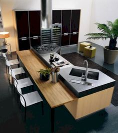 Idée relooking cuisine  Amazing 70 Remodeled Modern Kitchen Design Ideas homadein.com/