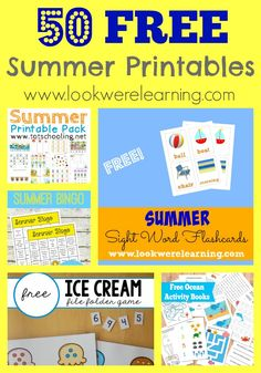 50 Free Summer Printables for Kids from www.lookwerelearning.com