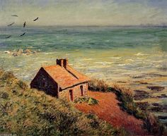 Claude Monet >> The Custom House, Morning Effect  |  (Oil, artwork, reproduction, copy, painting).