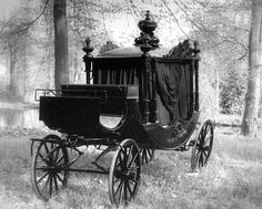 Cemeteries Ghosts Graveyards Spirits: Victorian Mourners' Carriage.