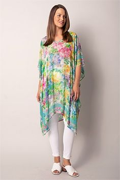 Shop Women's Tops Online   Blue Illusion Tunics Online, Tops Online, Frill Shirt, Boat Neck Tops, Travel Wardrobe, Blouse Styles, Illusion, Women's Tops, Floral Tops