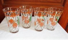 Set of 4 Mountain Dew Glasses Basketball Theme 16 oz. Hoops March Madness MINT #MountainDew
