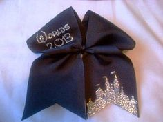 Cheerleading Worlds 2013 Cheer Bow on 3 Black by BritishBowtique, £6.50