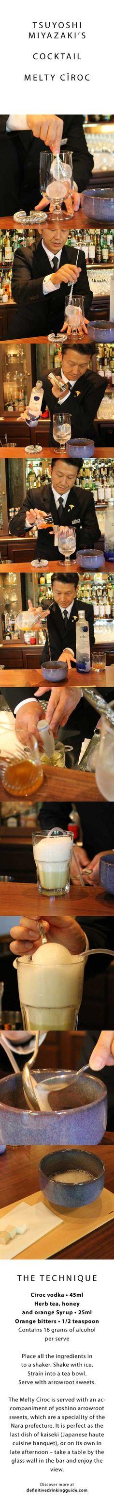 Tsuyoshi Miyazaki´s Cocktail Melty Cîroc Please drink responsibly www.DRINKIQ.com
