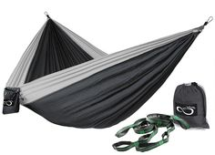 Double Lightweight Camping Hammock & Tree Straps
