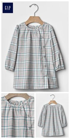 Plaid button-front dress Source by Stylish Dresses For Girls, Frocks For Girls, Kids Frocks, Dresses Kids Girl, Kids Outfits, Dress Anak, Diy Clothes, Clothes For Women, Designs For Dresses