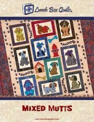 Mixed Mutts By Steveson, Angela - Dog lovers rejoice! The dogs are out! Ten whimsical applique embroidery mixed mutts adorn the quilt. A doghouse, fire hydrant, dog bones and paws complete the quilt. Dog Quilts, Cat Quilt, Animal Quilts, Book Quilt, Star Quilts, Baby Quilts, Quilt Blocks, Sampler Quilts, Mini Quilts