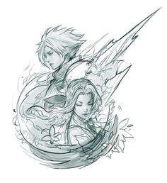 """""""VII Finished up an old sketch"""" Final Fantasy Tattoo, Final Fantasy Cloud, Fantasy Tattoos, Final Fantasy Cosplay, Final Fantasy Characters, Final Fantasy Vii Remake, Fantasy Series, Bayonetta, Der Richter"""