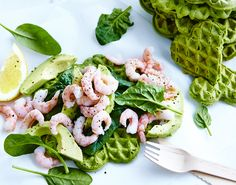 Sund frokost med vafler Breakfast Recipes, Snack Recipes, Healthy Recipes, Snacks, Healthy Food, Sugar Free Recipes, Base Foods, Fish And Seafood, Lunches And Dinners