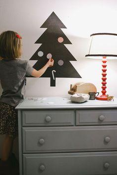 Albero di Natale da parete con adesivi