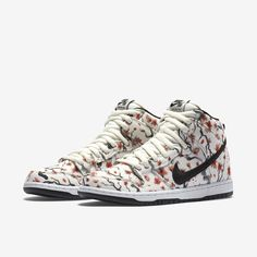 check out caee9 108f6 Nike SB Dunk High Pro - Sail Light Crimson White Black Tenis Nike