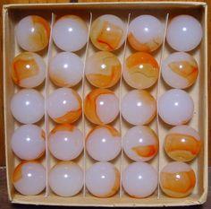 vintage marbles in their original boxes