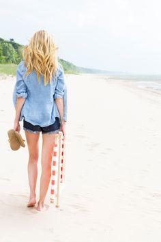 denim on denim beach wear // smitten studio