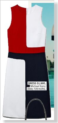 Michael Kors Dress, $1,995 clipped from Marie Claire using Netpage.