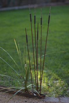 Handmade Rusted Metal Cattails by RustedGarden on Etsy, $8.00
