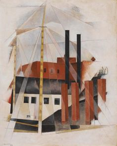 Charles Demuth / Piano Mover's Holiday / 1919 / Distemper on composition board