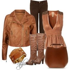 Brown Winter 2013 Outfits for Women by