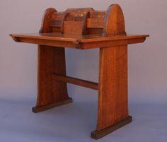 Circa 1910 Arts & Crafts Partners Wood Desk/Table