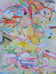 "Saatchi Art Artist Theodora Papoulidoy; Painting, ""Fruit and flowers in the garden"" #art"