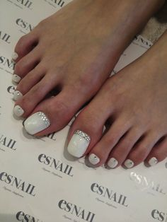 White toe nails