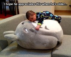 Funny pictures about Every Child Needs A Giant Totoro Stuffed Animal. Oh, and cool pics about Every Child Needs A Giant Totoro Stuffed Animal. Also, Every Child Needs A Giant Totoro Stuffed Animal photos. Baby Pictures, Funny Pictures, Funny Pics, Funny Stuff, Nerd Stuff, Amazing Pictures, My Babysitter, Cool Tech Gifts, My Neighbor Totoro