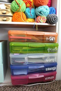How I store my craft vinyl! - A girl and a glue gun Diy Vinyl Storage Rack, Sheet Storage, Craft Room Storage, Craft Organization, Storage Ideas, Organizing, Cricut Craft Room, Cricut Vinyl, Vinyl Crafts