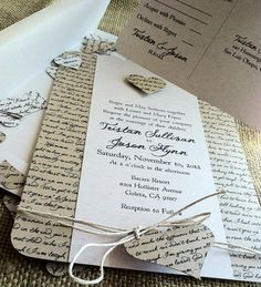 RUSTIC Wedding Invitation  Lyrical Love Collection  by kandvcrafts, $4.75