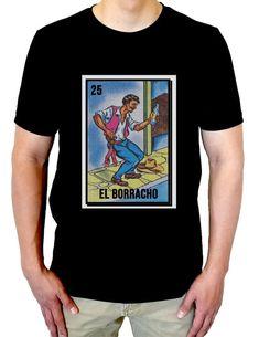 5ad0e4fedf El Borracho, Men's Shirt, Loteria Shirt, La Loteria, Red Tshirt, Spanish  Saying, Spanglish Shirt, Latino, Regalo Perzonalisado