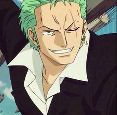 Roronoa Zoro, smiling; One Piece