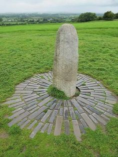 Stone of Destiny on the Hill at Tara, Dublin Ireland