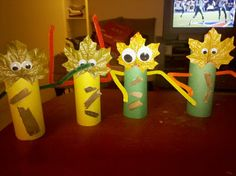 Toilet Paper Arts and Crafts | ... the fall creatures, sticks from the front lawn and construction paper