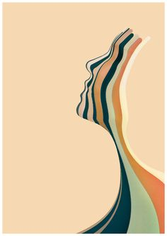 Psyche by Wojciech Zasina, via Behance Abstract Face Art, Art Et Illustration, Graphic Design Posters, Art Inspo, Line Art, Watercolor Art, Paper Art, Modern Art, Art Projects