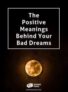 Take a look at the more positive interpretations of some of the most common bad dreams. Bad Dreams Quotes, Dream Quotes, Bad Dreams Meaning, Sleep Dream, Dream Live, Recurring Dreams, Good Night Sleep Tight, Dream Symbols