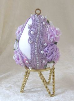 118E Victorian Heirloom Lavender Egg by WhiteHawkOriginals on Etsy