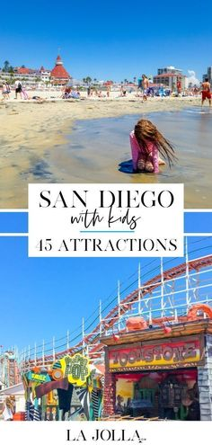 San Diego with kids! The best attractions that you MUST visit during your stay! La Jolla San Diego, San Diego Beach, San Diego Vacation, San Diego Travel, San Diego Activities, Family Activities, Cool Places To Visit, Places To Travel, Travel Stuff
