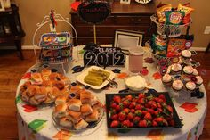 backyard party food ideas | This is just a simple banner I purchased at Dollar Tree. Graduation Parties, Bing Images, Graduation Day, Senior Prom
