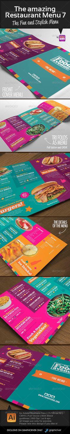 The Amazing Restaurant Menu 7 - Food Menus Print Templates Download here : http://graphicriver.net/item/the-amazing-restaurant-menu-7/5421775?s_rank=1311&ref=Al-fatih