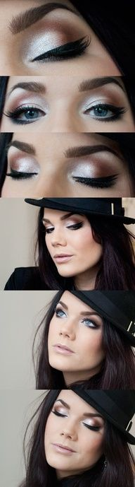 neutrals.. use urban decays naked  naked 2 pallets along with midnight cowboy  midnight cowboy rises again, with all those I can create this look but with numerous color combinations.